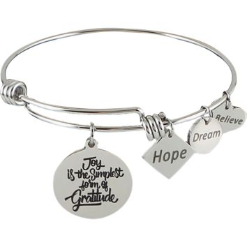 Expandable Bangle Joy is the Simplest Form of Gratitude