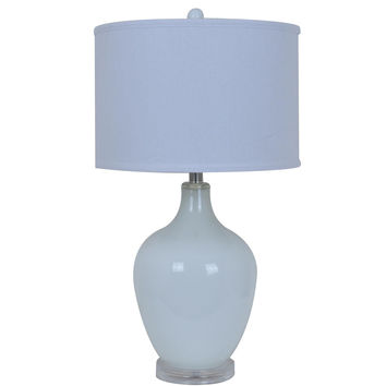 Crestview Avery White Table Lamp - CVABS811A