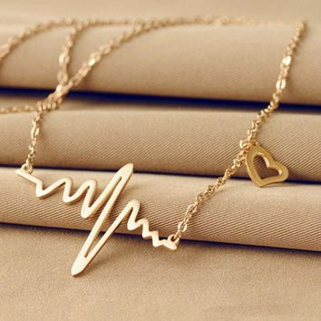 Heartbeat Necklace (in Gold & Silver)