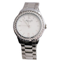 Kenneth Cole KC4890 Women's Crystal Accent Bezel Silver Dial Stainless Steel Bracelet Watch