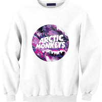 ARCTIC MONKEYS sweat sweater Tumblr blanc unisexe  women grey black white sweatshirt tumblr graphic size S M L one direction louis