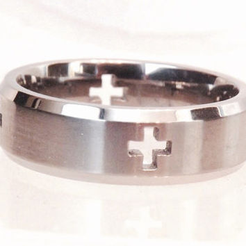 Titanium Mens Cross Band/ Size 10