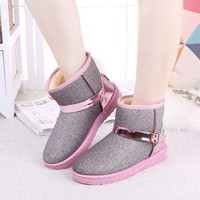 On Sale Hot Deal Thicken Shoes Flat Boots [11593332359]