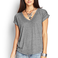 Slouchy Marled Knit Tee