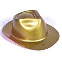 Metallic Gold 20s Style Gangster Costume Fedora Party Hat
