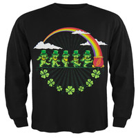 Grateful Dead - Leprechaun Bears Black Toddler Long Sleeve