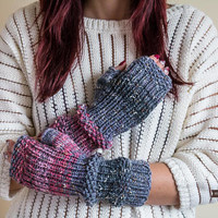 Open Finger Gloves, Fingerless Gloves, Christmas Gift For Her, Winter Knitted Gloves, Long Arm Warmers, Winter Gloves For Women