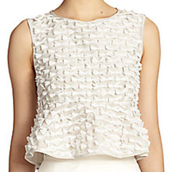 Tibi - Ribbon Fil Coupe Cropped Top - Saks Fifth Avenue Mobile