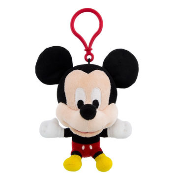 Disney Parks Mickey Mouse Big Face Plush Keychain New with Tags