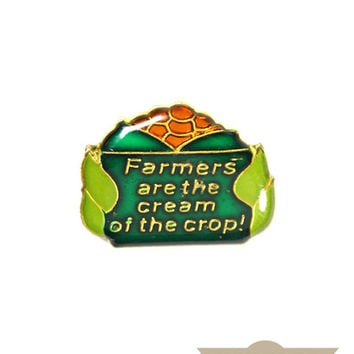 Cream Of The Crop Vintage Pin