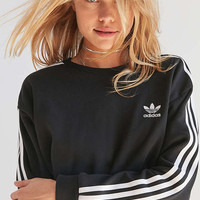 adidas Originals 3 Stripe Cropped Sweatshirt | Urban Outfitters