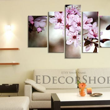 Large Wall Art CANVAS Print   Blossom Cherry Large Size Canvas Print,  Almond Tree Canvas