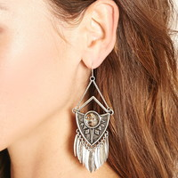 Faux Stone Drop Earrings | Forever 21 - 1000177857