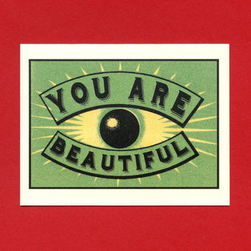 YOU ARE BEAUTIFUL - Art Deco Card
