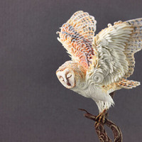 MADE TO ORDER Owl Totem figurine sculpture, magic accessory, guardian spirit, handmade owl
