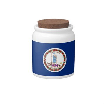 Virginia State Flag Candy Jar