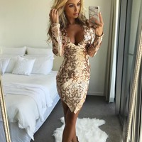 Zanthia Gold Mini Dress