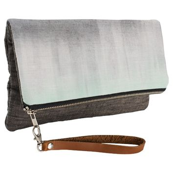 urban concrete, mint green Clutch