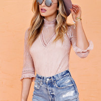 WE ARE KINDRED | Ines Lace Top - Blush