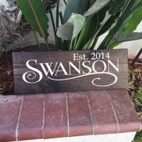 Personalized Script Wood Board