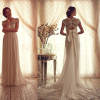 White Prom Dresses New Free Shipping lace Ivory Lace Long Evening Party Gowns Vestidos de Formatura Custom Made Maxi Dress