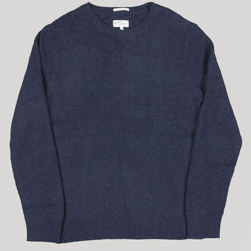 Gant Rugger Basket Weave Jumper Evening Blue
