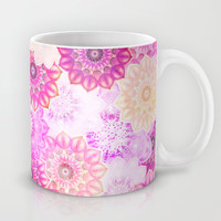 Mandala Flowers in a Colorful Pattern Mug by Octavia Soldani