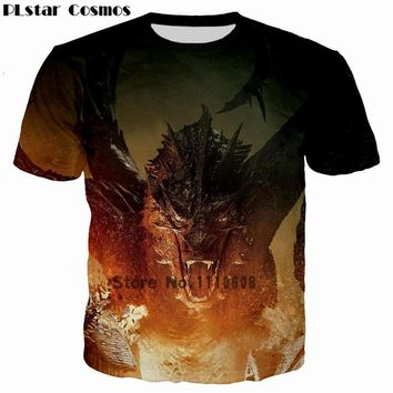 PLstar Cosmos Jon Snow Game of Thrones Printed 3D Men T-shirt casual men tshirt Tops Tees Fire Dragon Queen Print Women t shirt