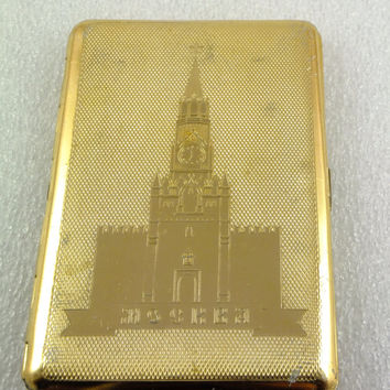 Vintage Soviet Russian USSR CIGARETTE Case -  Moscow, CCCP