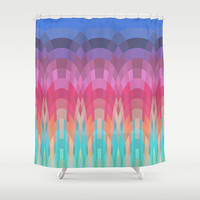 Rainbow Dawn Shower Curtain by ArtLovePassion