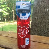 Heart Shaped Stethescope Nurse Monogrammed Bottle