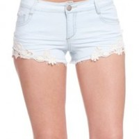 2B Denim Crochet Short 2b Denim Light Wash-31