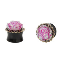 Acrylic Rose Opal Filigree Plug 2 Pack