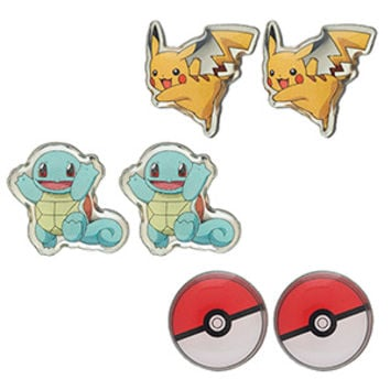 Pokémon Pikachu 3-Pack Enamel Earring Set