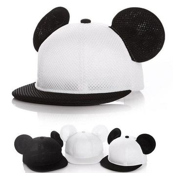 PEAPGC3 Baby kids boy girl Fashion Mickey hat baseball cap accessoire bonnet bebes chapeau garcon fille touca gorro Two sizes