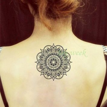 Waterproof Temporary Tattoo Sticker flower lotus mandala henna mehndi tatto stickers flash tatoo fake tattoos for girl women 7