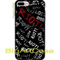 Hot Paramore Riot Letter - Punk Emo Band CASE iPhone 6/6+7/7+8/8+,X and Samsung