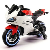 Electric Kids Ride-On Motorcycle / Bike with Digital MP3 Player   Red