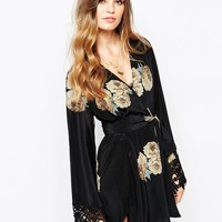 The Stone Cold Fox Kimono in Dharma Print