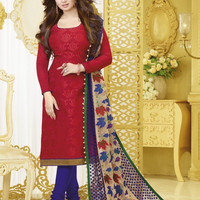 Designer Cotton Embroidered Suit 05