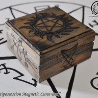 "Supernatural Inspired  ""Antipossession Magnetic Curse Box"" Curse Box"