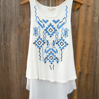 Southwest Ways Tunic [7348] - $23.00 : Feminine, Bohemian, & Vintage Inspired Clothing at Affordable Prices, deloom