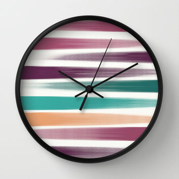Brush strokes Wall Clock by EDrawings38