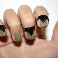triangle nail rings