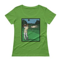 It's a Sand Trap! Admiral Ackbar Sand Hazard Golf Meme Ladies' Scoopneck T-Shirt