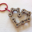 UPCYCLED Bicycle Chain HEART 8 Keychain - Enjoy the Ride