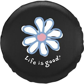Life Is Good Good Times Tire Cover Daisy Black