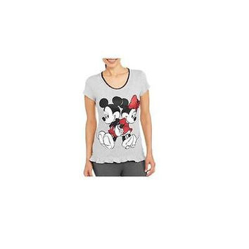 Minnie Mickey Mouse Sleep Shirt, Large 12-14, Gray Disney