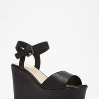 Classic Faux Leather Wedges