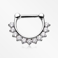 Brilliant Princess Sparkle Septum Clicker Ring